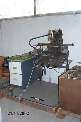 Κλαβιέ Μονοτυπικής Μηχανής Monotype