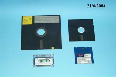 Συλλογή Μέσων Αποθήκευσης Δεδομένων Η/Υ (κασέτα μαγνητοταινίας, δισκέτα 8΄, 5΄1/4, 3΄1/2)